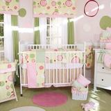 Brandee Danielle Minky Bubbles 4 Piece Crib Bedding Set Cotton Blend in Pink | Wayfair 1714PBP