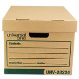 """Universal® Recycled Record Storage Box, Letter, 12"""" x 15"""" x 10"""", Kraft, 12/Carton Corrugated in Brown, Size 29.38 H x 12.44 W x 21.06 D in 