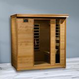 "Radiant Saunas Infracore Premium 4 Person FAR Infrared Sauna, Solid Wood, Size 75""H X 72""W X 45""D | Wayfair BSA2418"