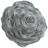 Fennco Styles Home Décor Hayley Rose Chiffon Everyday Filled Flower Decorative Throw Pillow, 16-Inch Round, Many Colors