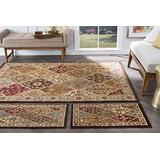 Universal Rugs 105120 Multi 3 Pc. Set 5-Feet by 7-Feet, 20-Inch by 60-Inch and 20-Inch by 32-Inch Area Rug, 3-Piece