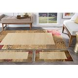 Universal Rugs 105202 Ivory 3 Pc. Set 5-Feet by 7-Feet, 20-Inch by 60-Inch and 20-Inch by 32-Inch Area Rug, 3-Piece