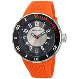 Philip Stein Men's 34-BRG-RO Extreme Orange Rubber Strap Watch