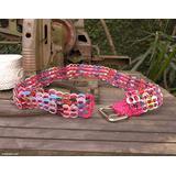 Soda pop-top belt, 'Multicolor Armor Chain Mail in Dark Pink'