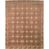 Safavieh Tibetan Collection TB101B Hand-Knotted Modern Premium Wool Area Rug, 8' x 10', Beige / Brown