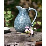Celadon ceramic pitcher, 'Carved Jewel'