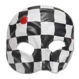 Leather mask, 'Harlequin' - Handcrafted Leather Carnaval Mask