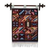 Wool tapestry, 'Calendar in Sun and Shade'