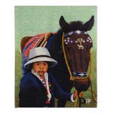Wool tapestry, 'The Little Horseman'