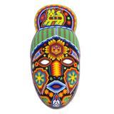 'Messenger' - Unique Mexican Hand Beaded Papier MacheHuichol Mask