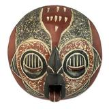 Ghanaian wood mask, 'Man of Fire'