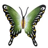 'Soul of Fortune' - Collectible Green Butterfly Steel Wall Sculpture Mexico