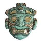 'Chavin Personage' - Hand Made Archaeological Bronze Copper Mask