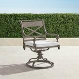 Set of 2 Carlisle Slate Swivel Dining Arm Chair - Frontgate