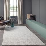 Momeni Rugs Metro Collection, 100% Wool Hand Loomed Contemporary Area Rug, 5' x 8', Ivory
