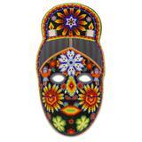 'Spirit of the Blue Deer' - Fair Trade Huichol Hand Beaded Papier Mache Mask