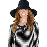 Coolibar UPF 50+ Women's Brittany Beach Hat - Sun Protective (One Size- Black)