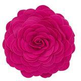 """Fennco Styles Eva's Flower Garden Decorative Throw Pillow with Insert - 13 inch Round (Fuchsia, 13"""" Case+Insert)"""