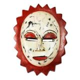Nigerian wood mask, 'Moon Goddess' - Nigerian Wood Mask