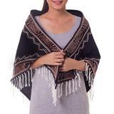 Cotton scarf, 'Lanna Legend' - Handcrafted Cotton Scarf