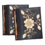 Pandanus journals, 'Floral Pride' (set of 2)