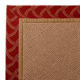 Parkdale Indoor/Outdoor Rug in Lattice Sway Brick/Wheat - Cane Wicker, 8' Octagonal - Frontgate