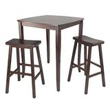 Winsome Inglewood High/Pub Dining Table with Saddle Stool, 3-Piece