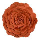 """Fennco Styles Eva's Flower Garden Decorative Throw Pillow with Insert - 13 inches Round (Terracotta, 13"""" Case+Insert)"""