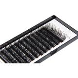 Alluring 100% Real Siberian Mink Fur Mixed Size J Curl .15 X 14mm Eyelash Extensions