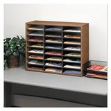 Fellowes Mfg. Co. Literature Sorter w/ 24 Sections Wood in Brown, Size 23.44 H x 29.0 W x 11.88 D in   Wayfair FEL25043