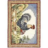 Safavieh Easy Care Collection EZC165A Hand-Hooked Novelty Rooster Accent Rug, 2' x 3', Multi / Red