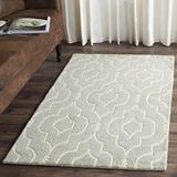 Safavieh Chatham Collection CHT736E Handmade Geometric Premium Wool Accent Rug, 2' x 3', Grey / Ivory