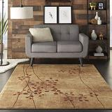 """Nourison Somerset Latte Rectangle Area Rug, 5-Feet 3-Inches by 7-Feet 5-Inches (5'3"""" x 7'5"""")"""