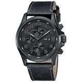 Luminox Mens Blackout Valjoux Field Automatic Chronograph - Leather Strap - 100M