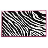 """Dalyn Rugs 735 3x5 Zebra Kids Area Rug, 3'3"""" x 5', Black, White, Hot Pink"""