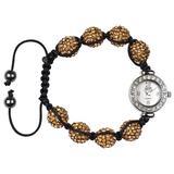 Eton - Shamballa Style Bracelet Watch - Gold Diamante - 10mm in Size - 2976L-2
