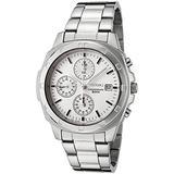 Seiko Quartz Mens Silver Chronograph Stainless Steel Bracelet Watch SNDB33