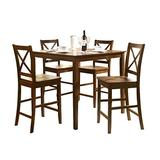 ACME Martha 5Pc Pack Counter Height Set - 0 - Country Brown