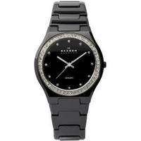 Skagen Black Ceramic Crystal Ladies Watch 813LXBC