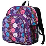 Wildkin 12 Inches Backpack for Toddlers, Boys and Girls, Ideal for Daycare, Preschool and Kindergarten, Perfect Size for School and Travel, Mom's Choice Award Winner, BPA-Free (Peace Signs)