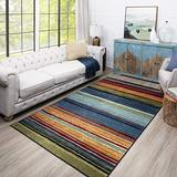 "Mohawk Home New Wave Rainbow Stripe Accent Area Rug, 2'6""x3'10"", Multi"