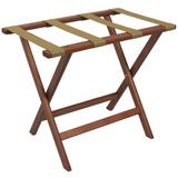 Wooden Mallet Folding Wood Luggage Rack Wood in Brown, Size 20.0 H x 23.75 W x 15.5 D in   Wayfair LR-MHTAN