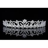 Bridal Flower Rhinestone Crystal Prom Wedding Tiara Crown