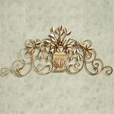 Urna Toscana Wall Grille Aged Gold , Aged Gold