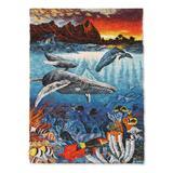 Wool tapestry, 'Ocean Life' - Hand Woven Wool Tapestry