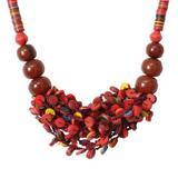 'Vivid Sunset' - Recycled Beaded Necklace from Africa