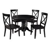 """Classic Black 5 Piece 42"""" Round Dining Set by Home Styles"""