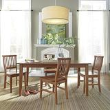 Arts and Crafts Cottage Oak 5-Piece Rectangular Dining Set by Home Styles