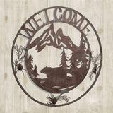 Natures Wonder Round Welcome Sign Brown , Brown