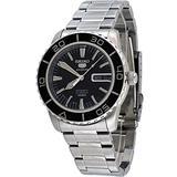 Seiko Men's SNZH55 Seiko 5 Automatic Black Dial Stainless-Steel Bracelet Watch